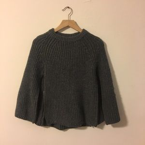 Gap Gray Sweater Cape with Zippers Size XS/S